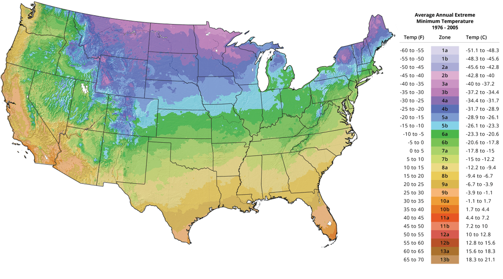 Plant Hardiness Zone Map - Tree Growing Zones | The Tree Center™